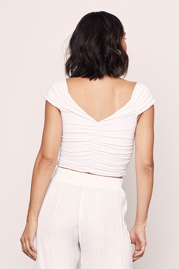 Ruched Crop Top