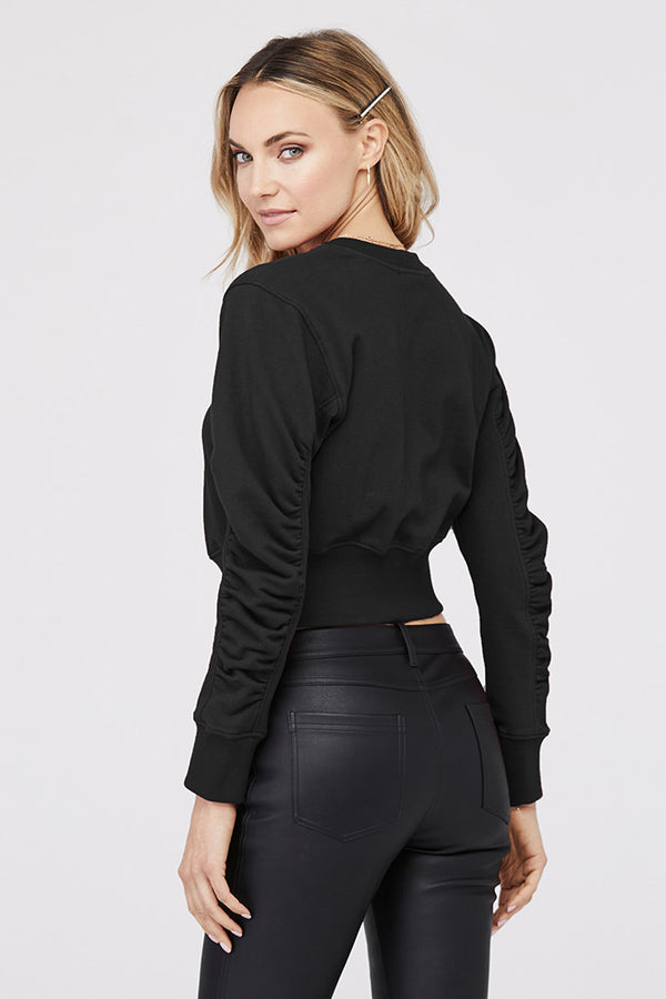 Victoria Ruched Sleeve Pullover