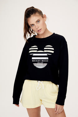 Stripe Mickey Pullover