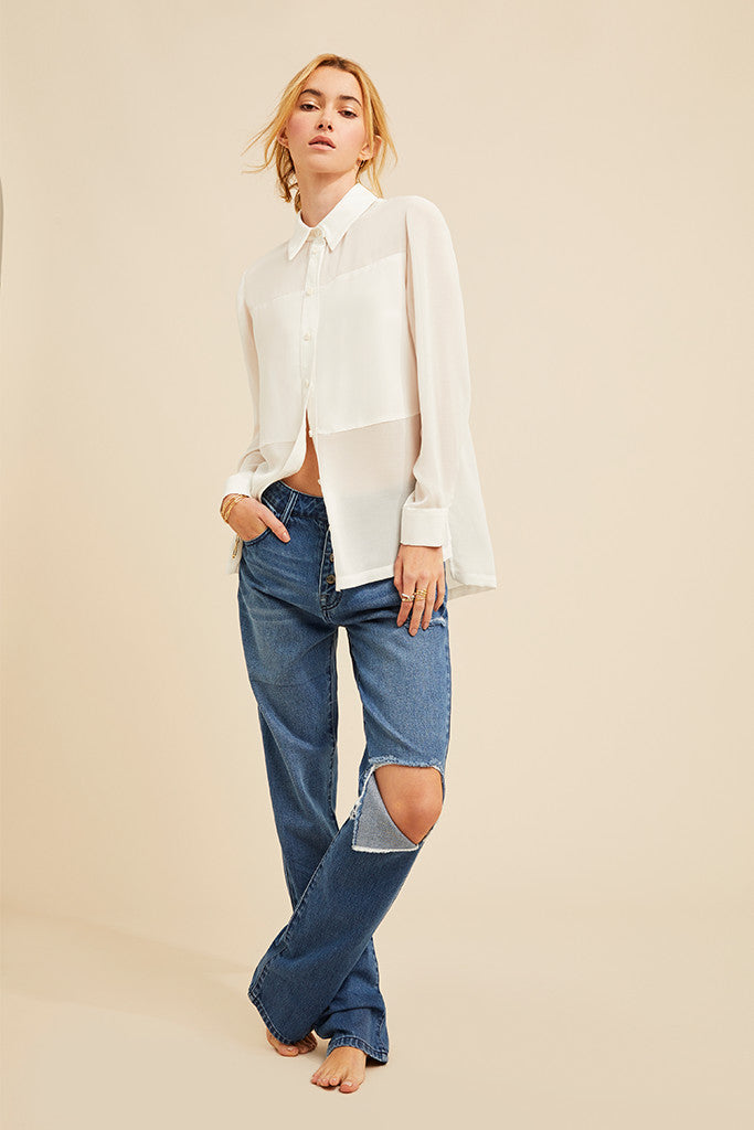 Marlo Contrast Panelled Blouse