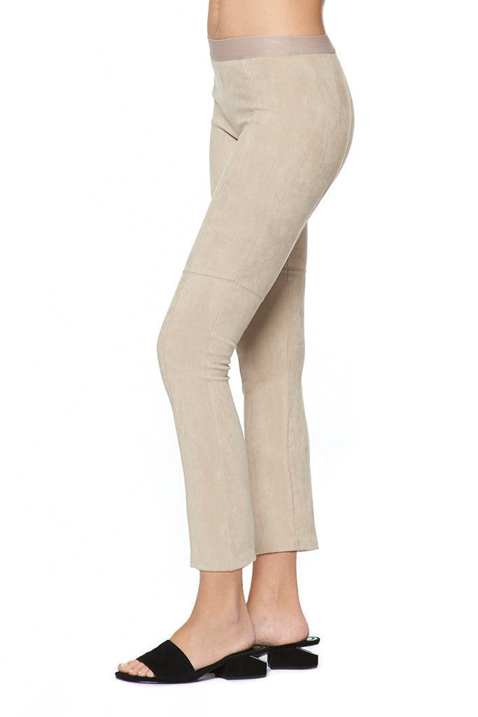 Micro Suede Cropped Flare Legging