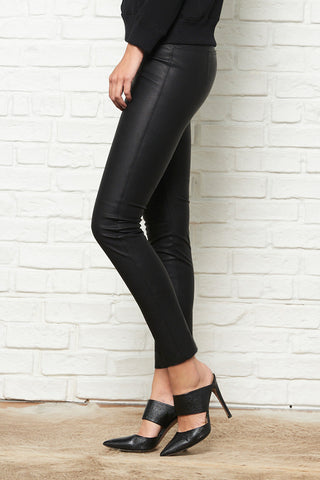 Gemma Mid Rise Straight Leg Skimmer in Pebble Vegan Leather