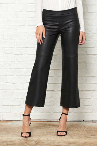 Varick Wide Leg Faux Leather Skimmer Pant
