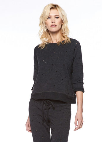 Ripped French Terry Raglan Pullover Ripped French Terry Raglan Pullover by David Lerner