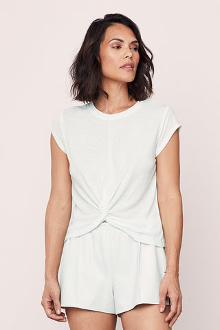 Cap Sleeve Knotted Top