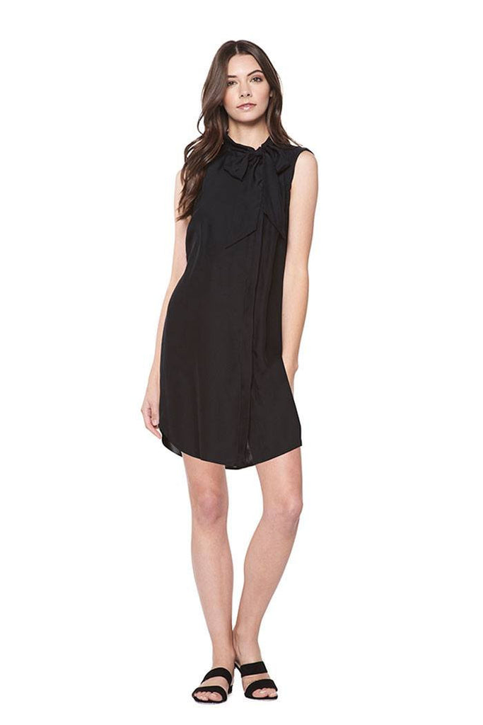 Shirt Dress With Neck Tie