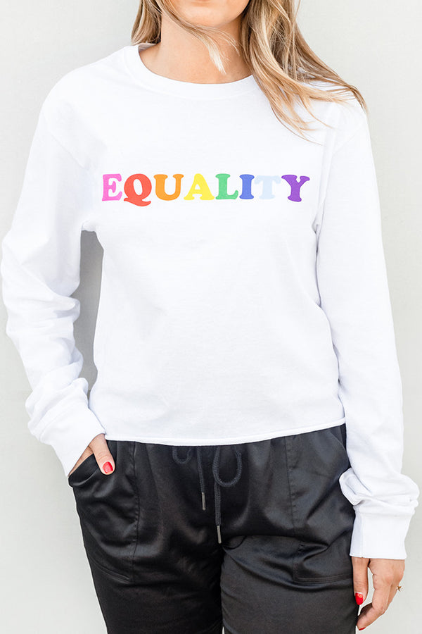 Rainbow Equality Cropped Tee