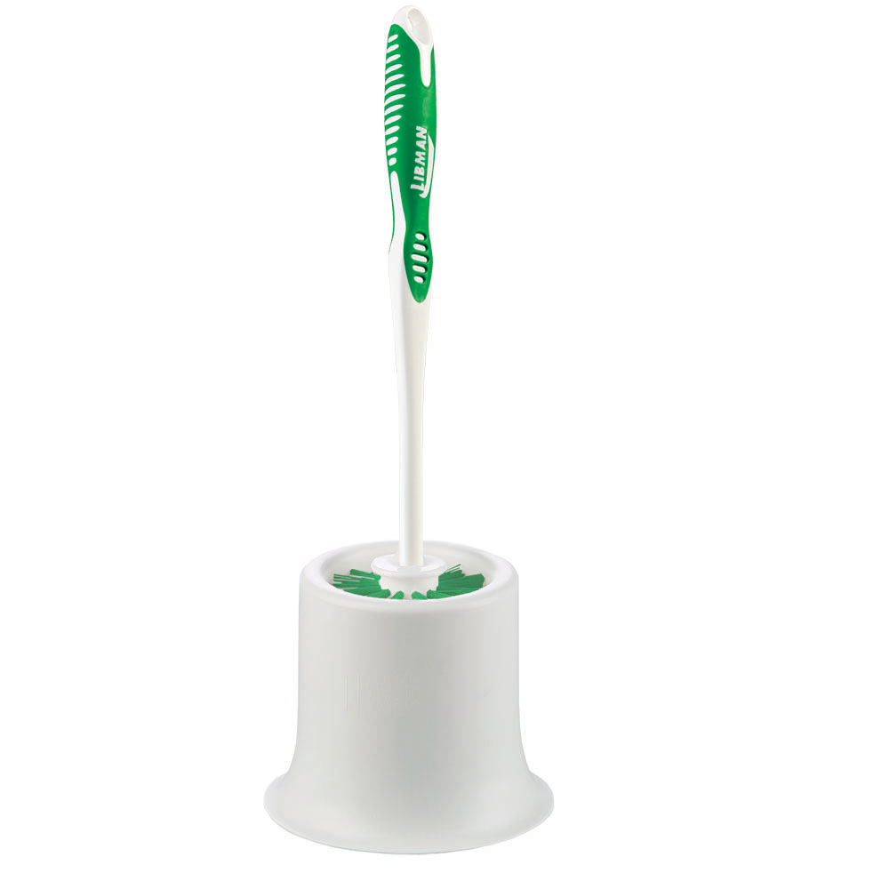 Toilet bowl brush and caddy; long handled