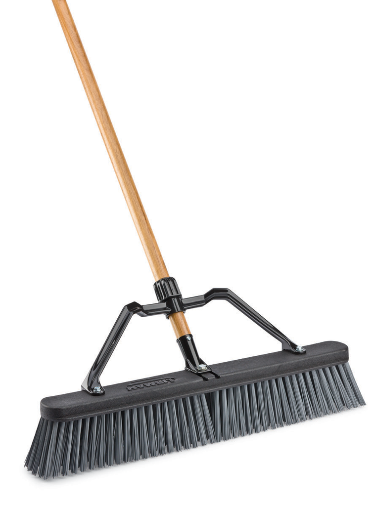 "24"" ROUGH SURFACE COMMERCIAL PUSH BROOM"