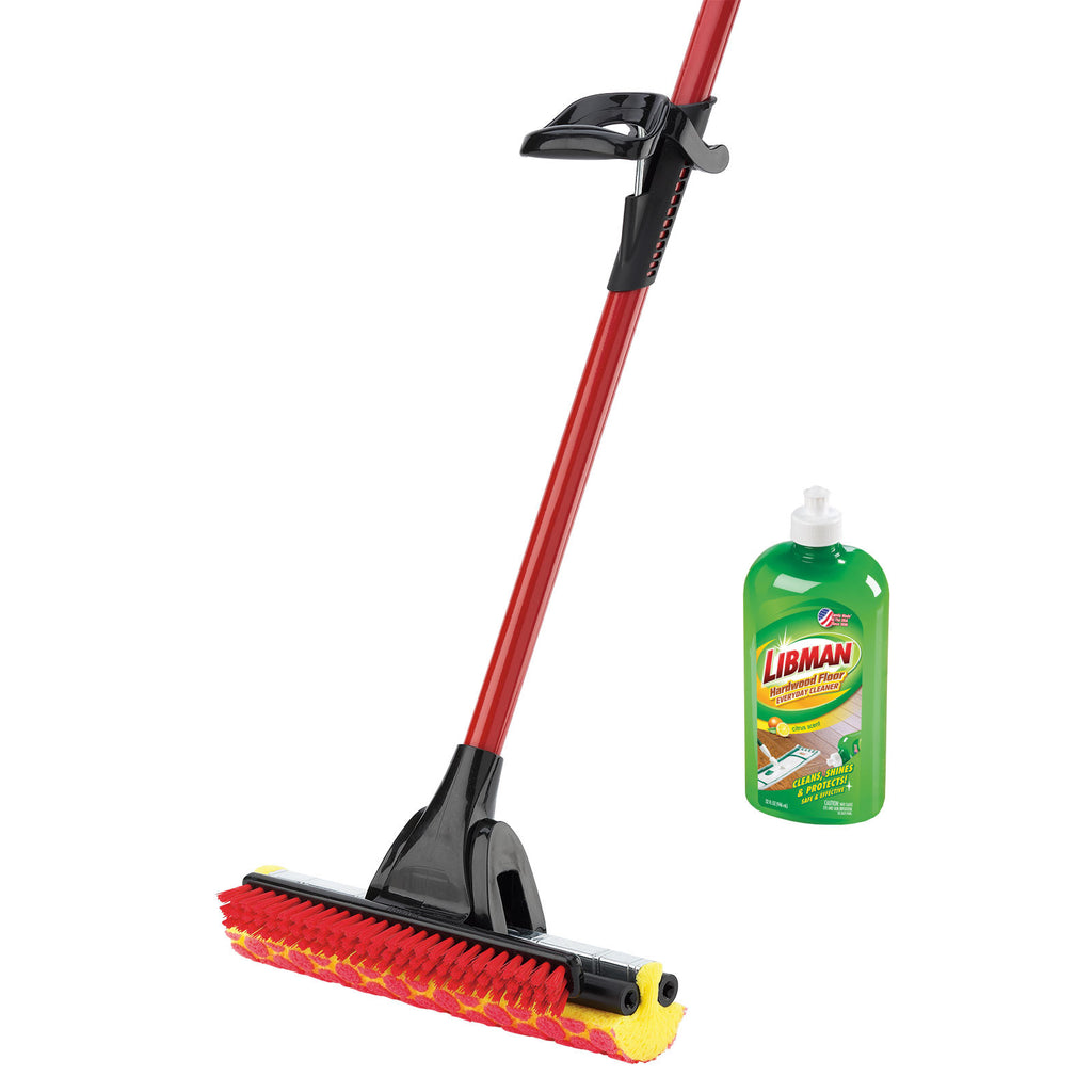 ROLLER MOP WITH SCRUB BRUSH