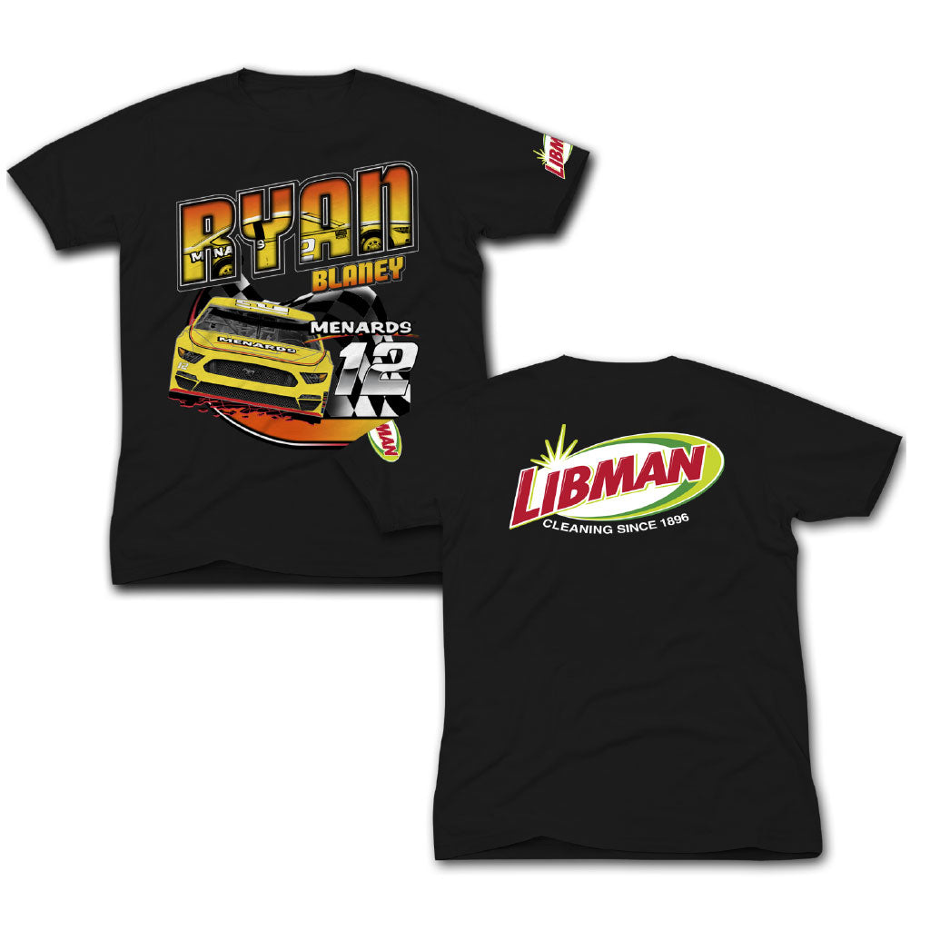 Libman Racing #12 Ryan Blaney T-Shirt -Black (S)