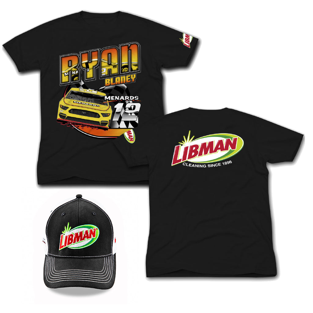 Libman Racing Hat & T-Shirt - Black (XL)