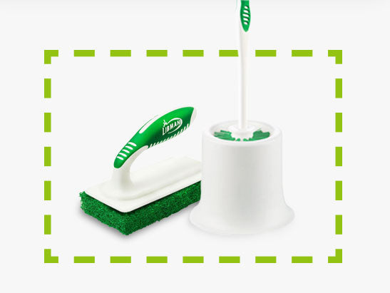 Toilet Bowl Brush, Tile & Tub Scrubber