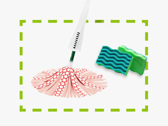 Antibacterial Sponge and Wonder Mop