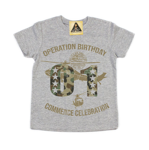 « OPERATION SECOND BIRTHDAY » KID'S TEE