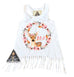 « WOODLAND DEER BIRTHDAY » KID'S FRINGE DRESS