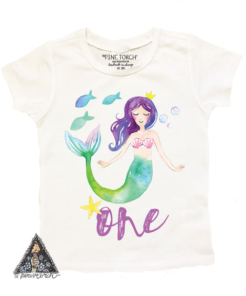 « MERMAID FIRST BIRTHDAY » KID'S TEE
