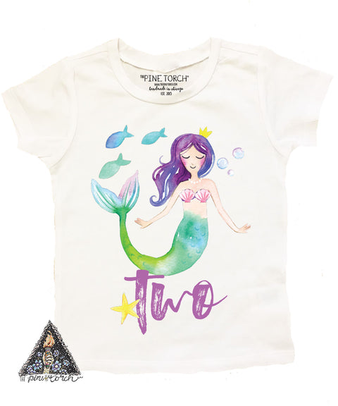 « MERMAID SECOND BIRTHDAY » KID'S TEE