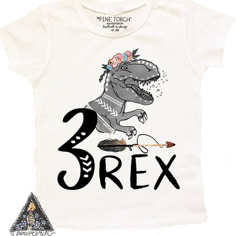 « 3-REX (GIRL) » KID'S TEE
