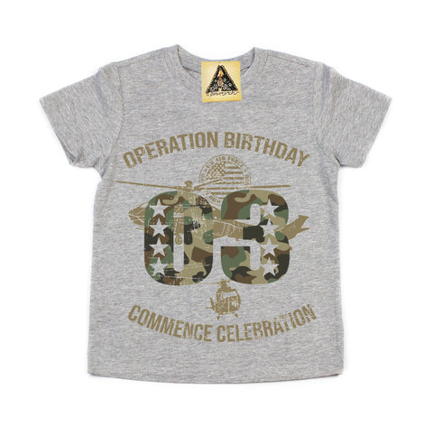 « OPERATION THIRD BIRTHDAY » KID'S TEE