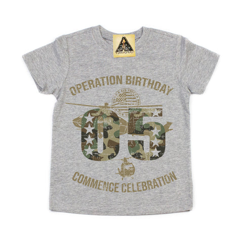 « OPERATION FIFTH BIRTHDAY » KID'S TEE