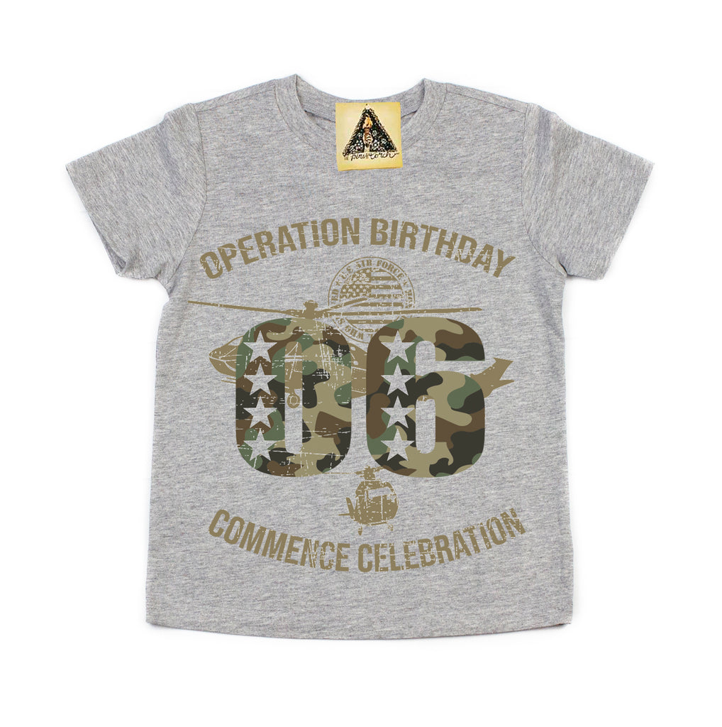 « OPERATION SIXTH BIRTHDAY » KID'S TEE