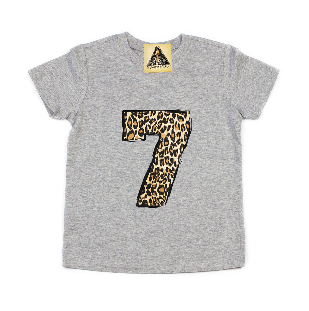 « SEVENTH BIRTHDAY GIRL LEOPARD » KID'S TEE