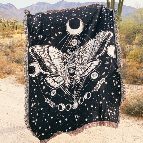 MOTH MOTHER // WOVEN FRINGE BLANKET