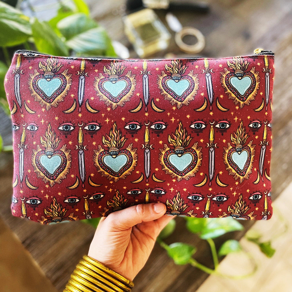 SACRED HEART // COSMETIC ZIP POUCH
