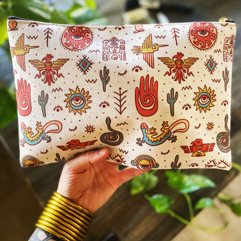 AZTEC-NOLOGY // COSMETIC ZIP POUCH