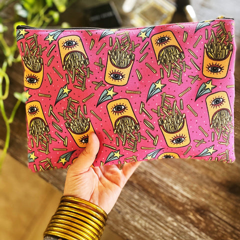 KEEP YOUR EYE ON THE FRIES // COSMETIC ZIP POUCH