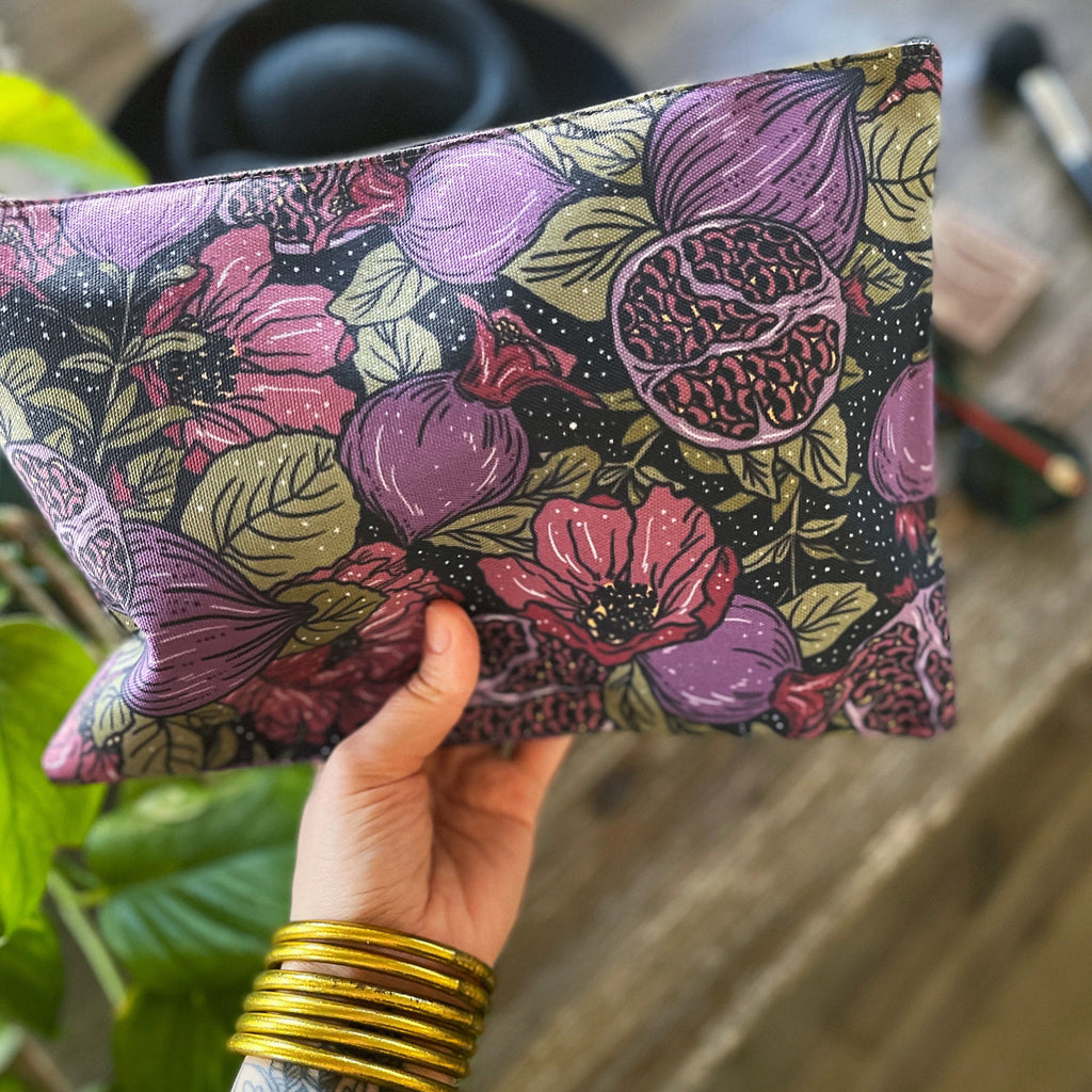 POMEGRANATE // COSMETIC ZIP POUCH