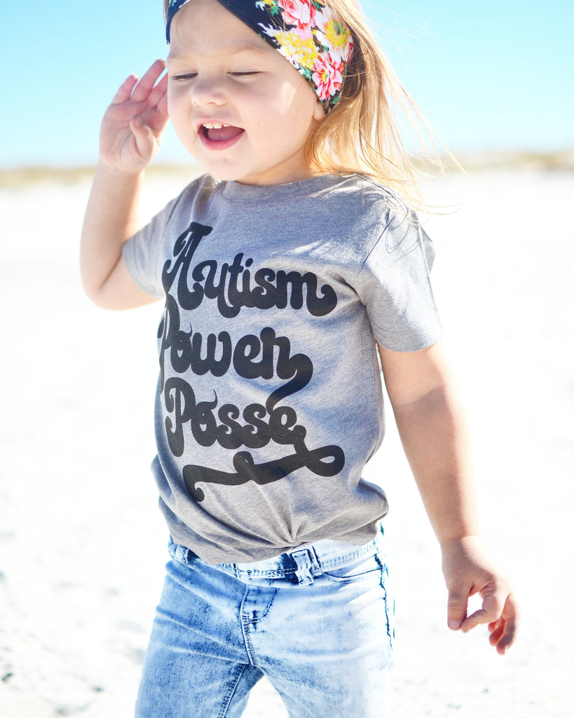 « AUTISM POWER POSSE » KIDS TEE
