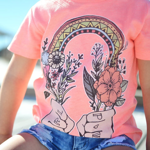 « GIRL POWER » (FLAMINGO) KID'S TEE