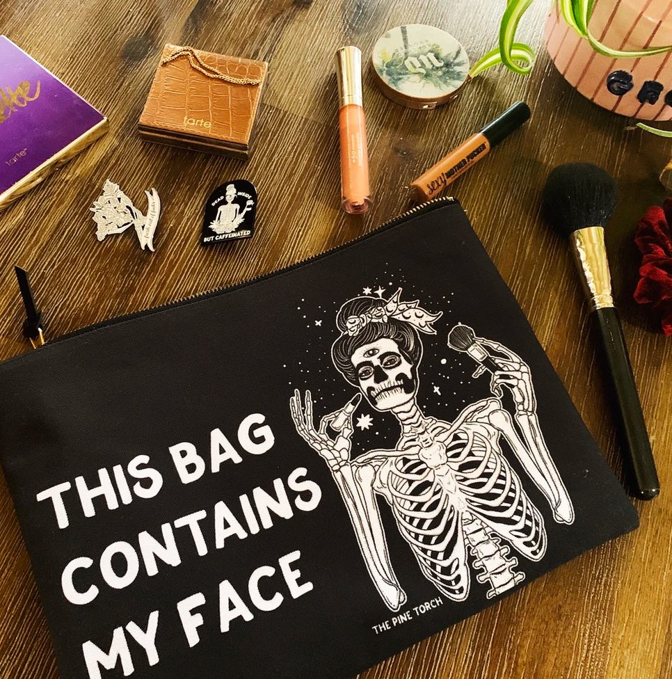 THIS BAG CONTAINS MY FACE // COSMETIC ZIP POUCH