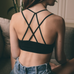 << HUNTRESS >> CROSSED DOUBLE STRAP BRALETTE