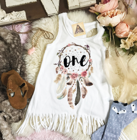 « DREAMCATCHER BIRTHDAY » KID'S FRINGE DRESS