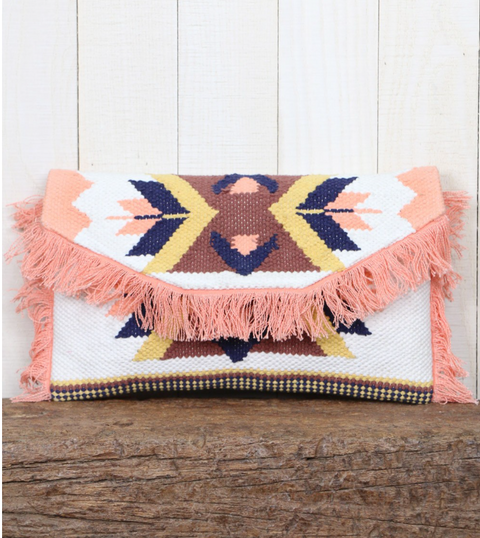 << DESERT CHILD >> SOUTHWEST IKAT CLUTCH