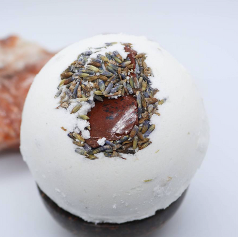"<< LAVENDER CHAMOMILE >> 3.5"" CRYSTAL BATH BOMB"