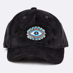 BLACK FRIDAY EXCLUSIVE « EVIL EYE » VELOUR EMBROIDERED HAT
