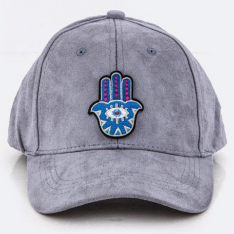 « HAMSA » VELOUR EMBROIDERED HAT