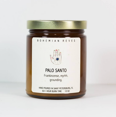 << PALO SANTO >> GROUNDING CANDLE