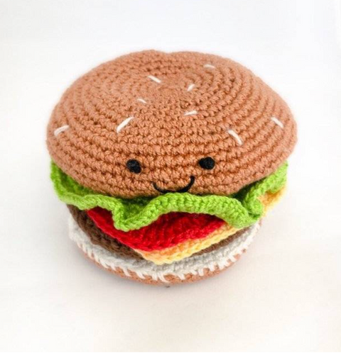 << MAKE IT A DOUBLE >> CROCHET CHEESEBURGER SET