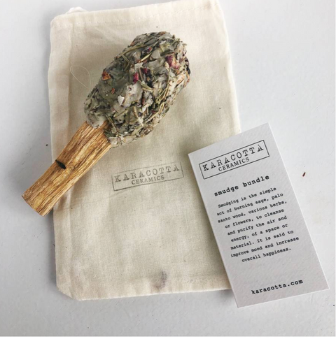 << SMUDGE POP >> PALO SANTO + SMUDGE ON A STICK