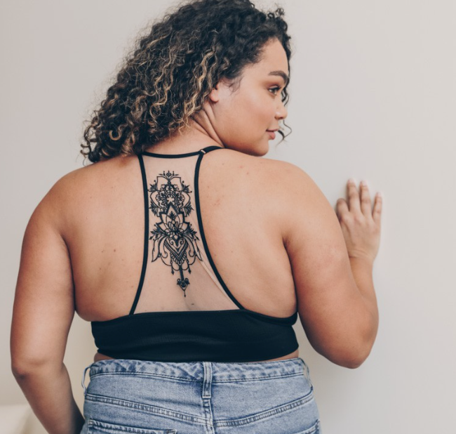 << RAMBLER >> EMBROIDERED RACERBACK BRALETTE