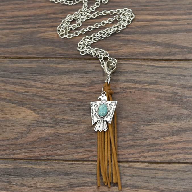 BLACK FRIDAY EXCLUSIVE << PHOENIX RISING >> NATURAL TURQUOISE NECKLACE