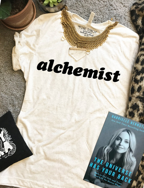 « ALCHEMIST » CREAM, GRAY or BLACK UNISEX TEE