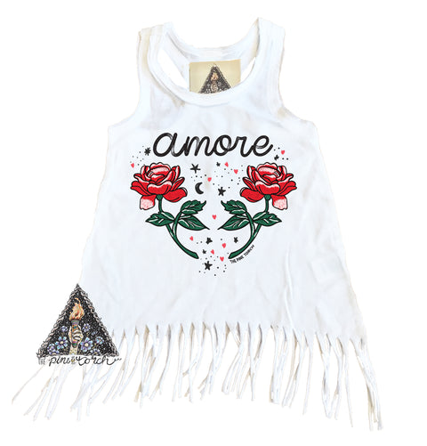 « AMORE » KIDS FRINGE DRESS
