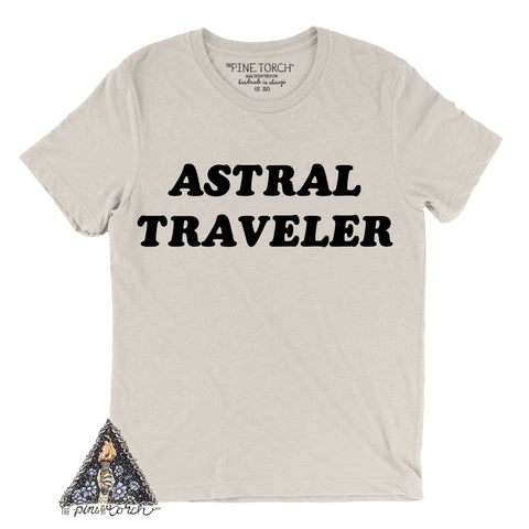 « ASTRAL TRAVELER » CREAM, GRAY or BLACK UNISEX TEE