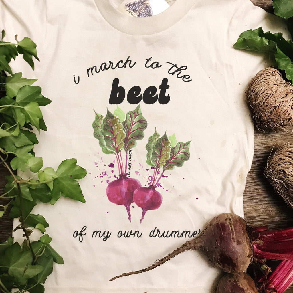 « I MARCH TO THE BEET OF MY OWN DRUMMER » KID'S TEE